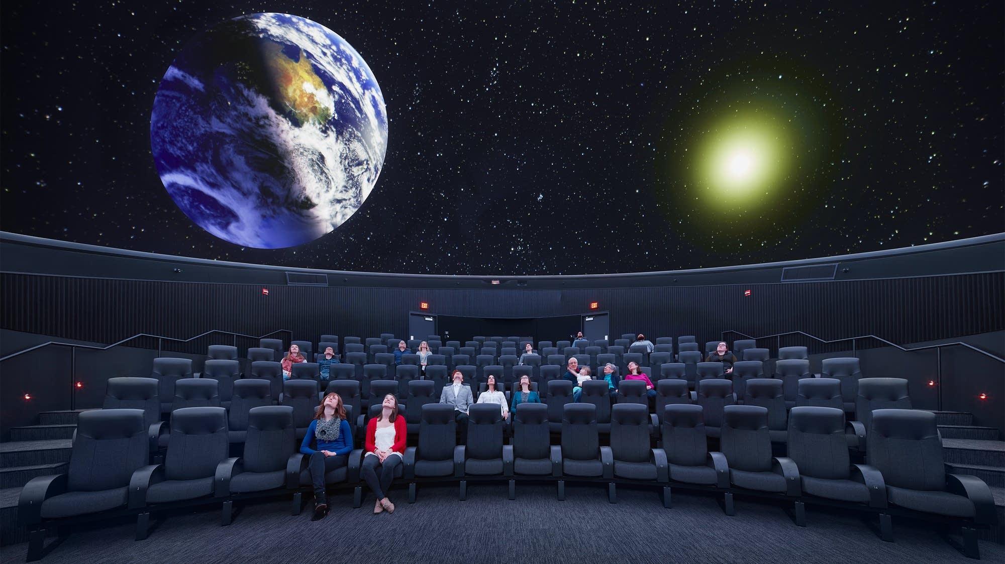 The planetarium at the University of Minnesota's Bell Museum