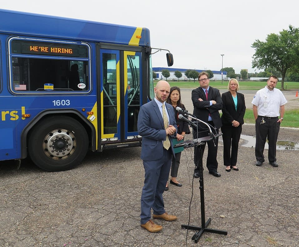 Brian Funk, who oversees bus operations for Metro Transit.