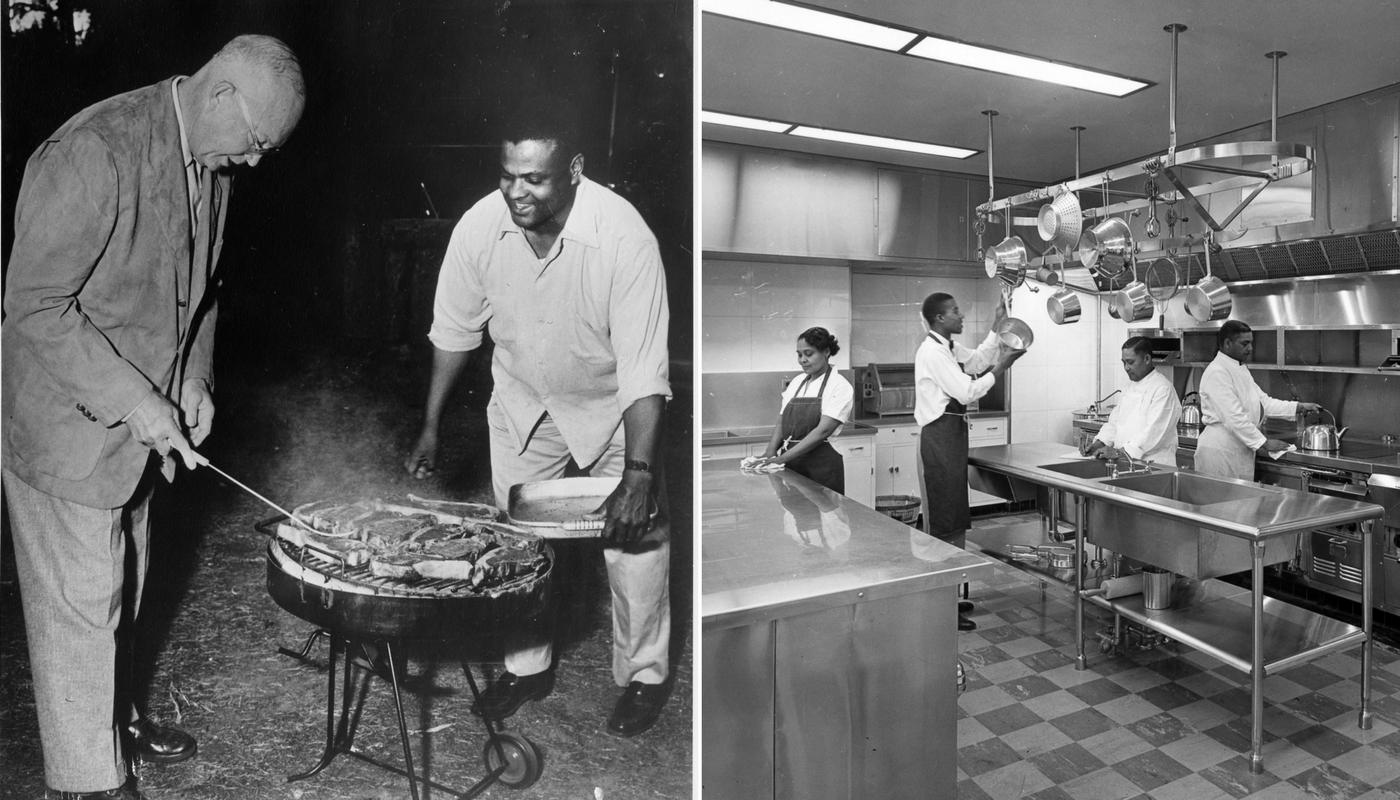 President Eisenhower and John Moaney, Truman Admin Kitchen