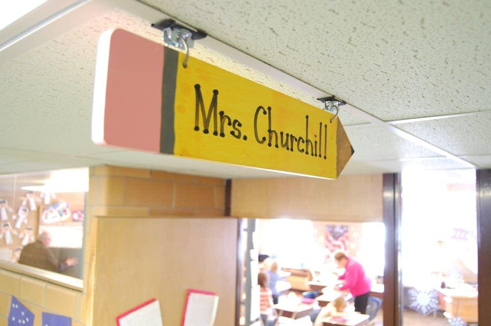 Mrs. Churchill's classroom