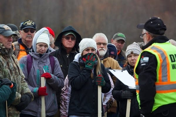Volunteers search for Jayme Closs.