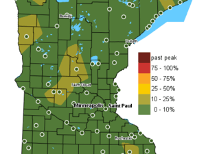 Fall color finder map