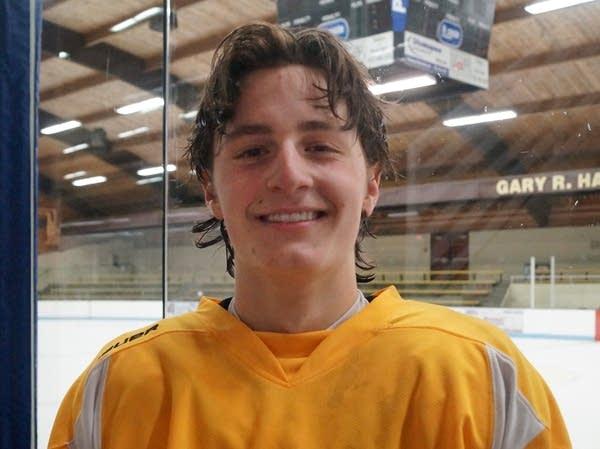 Burnsville hockey team captain Cade Borchardt