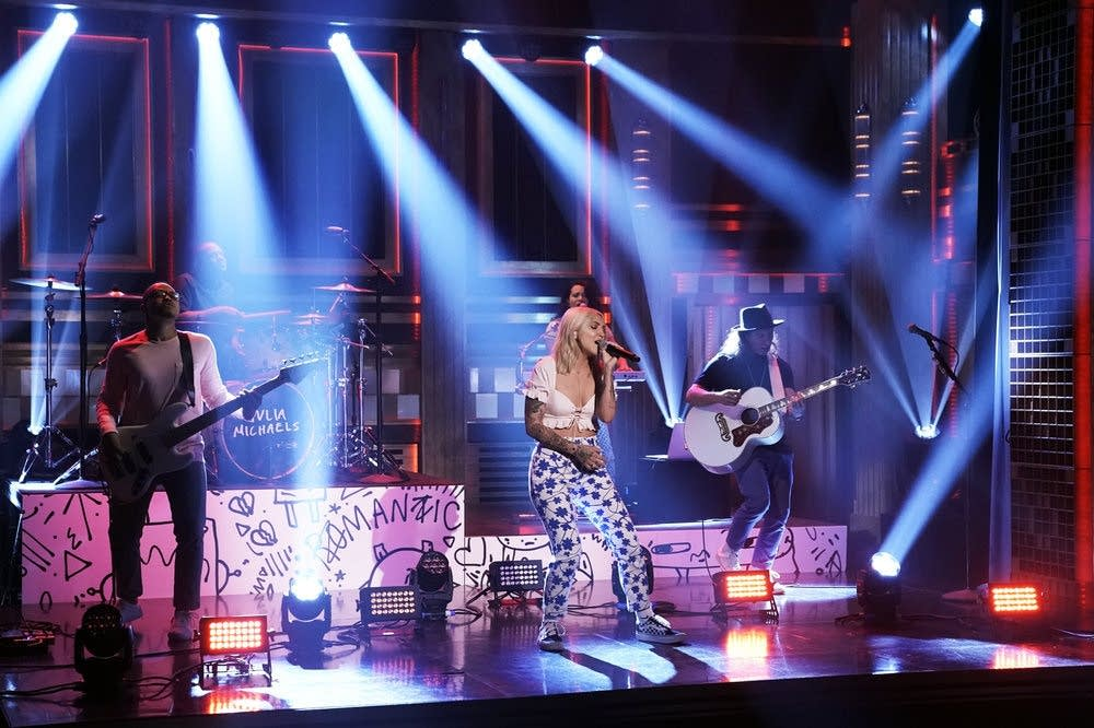 Julia Michaels performs on 'The Tonight Show Starring Jimmy Fallon'