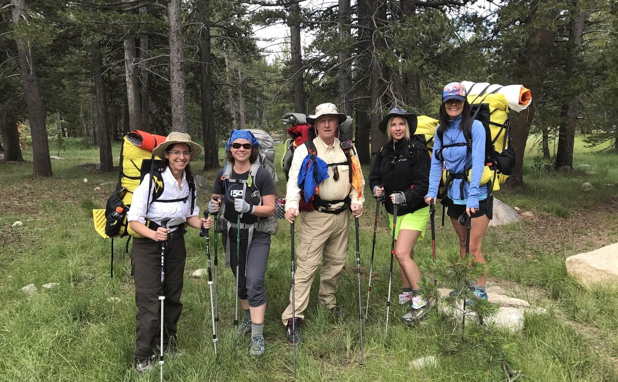 Hikers ready to head out on the Pacific Crest Trail