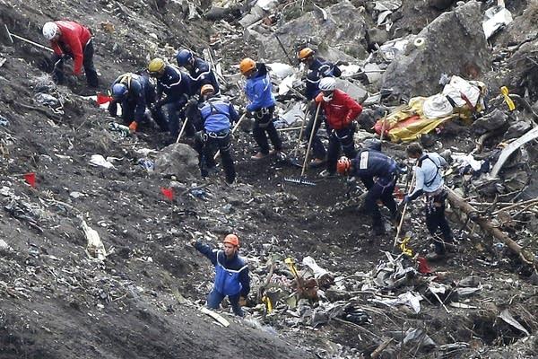 Germanwings crash debris