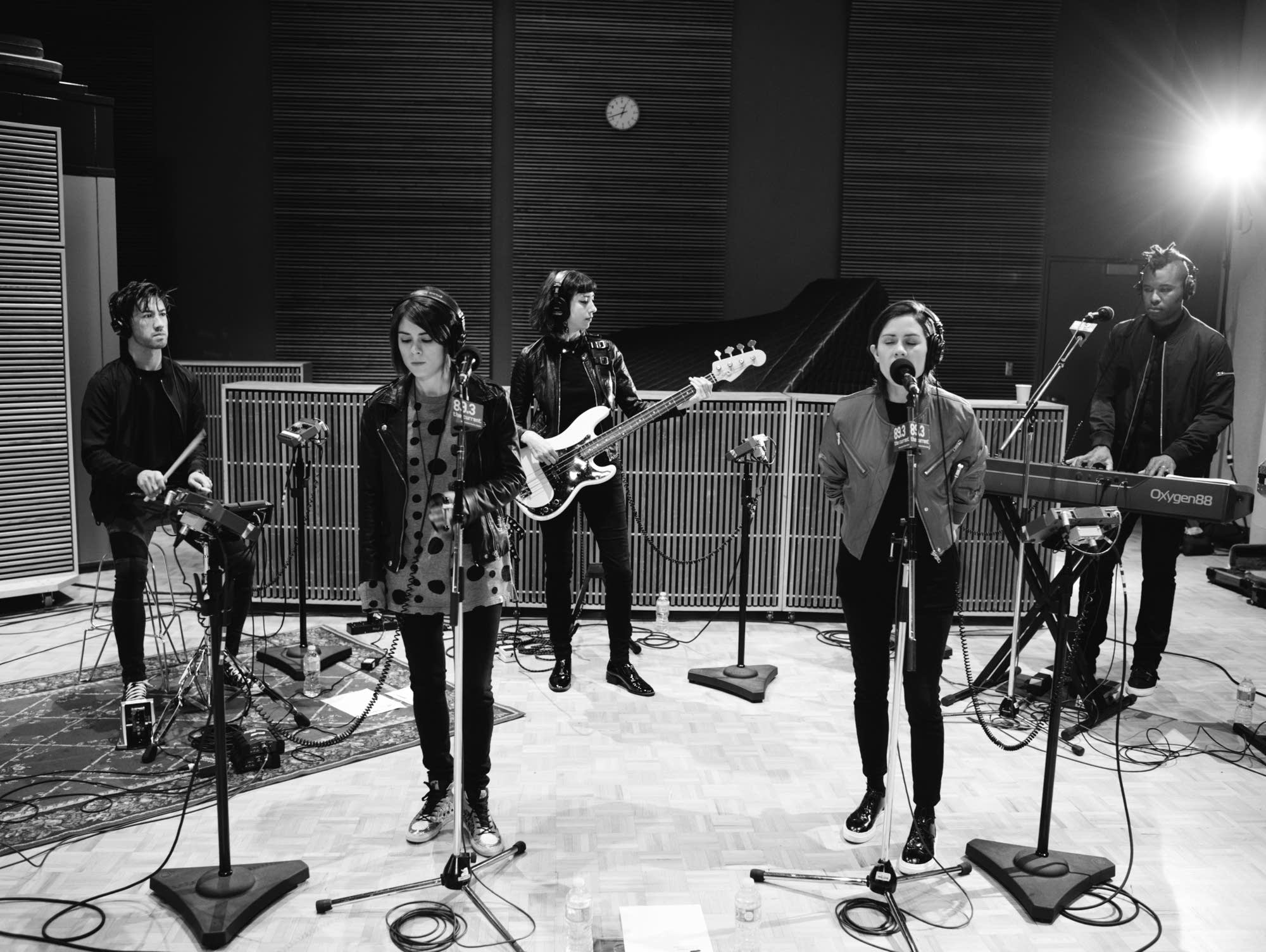 Tegan and Sara perform in The Current studio