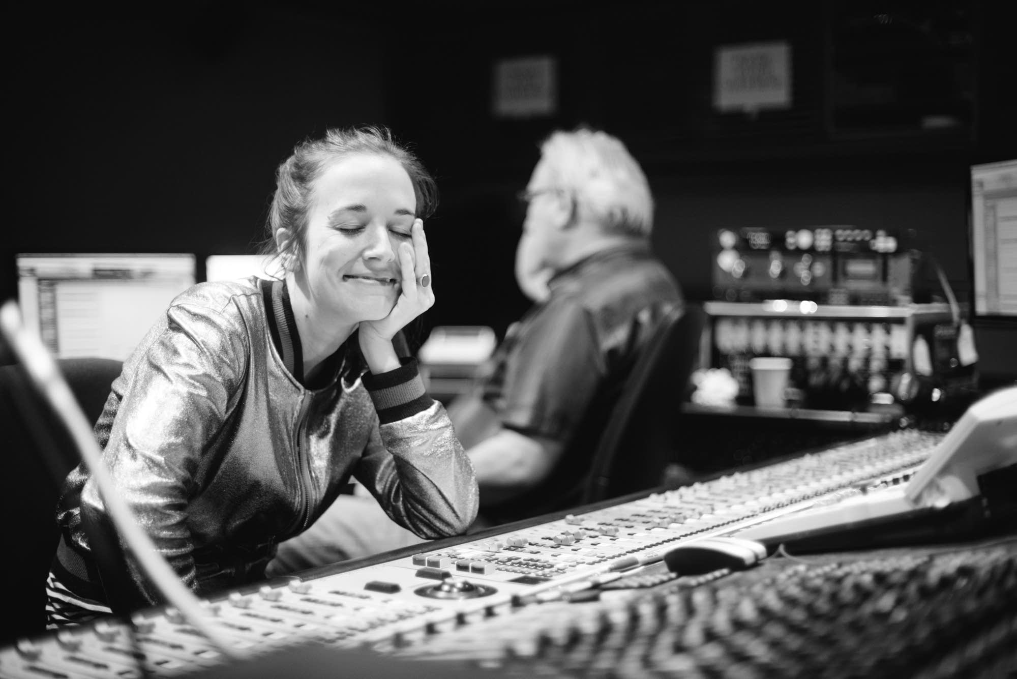 Margaret Glaspy in the control room