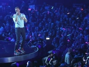 Singer Chris Martin of Coldplay