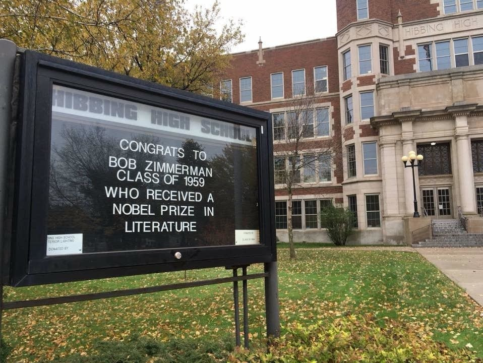 Hibbing High School congratulates Bob Dylan