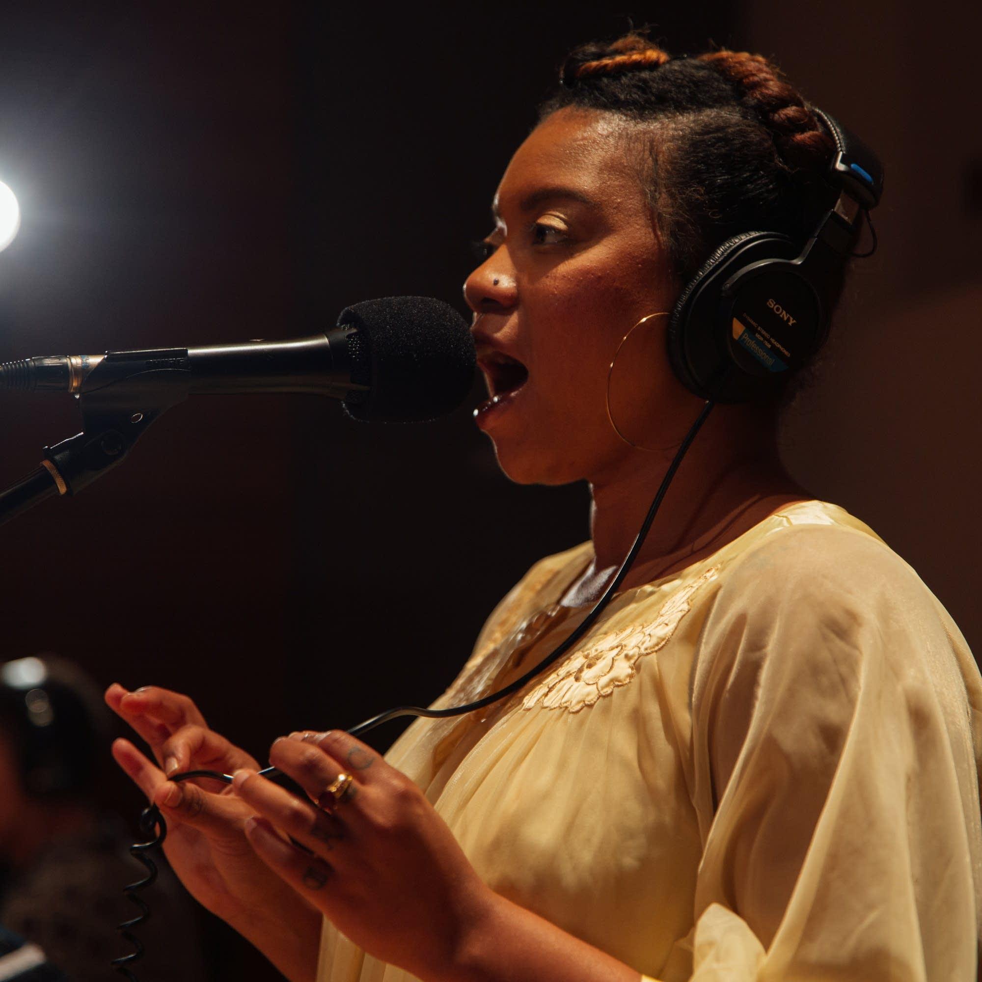 Seratones perform in The Current studio