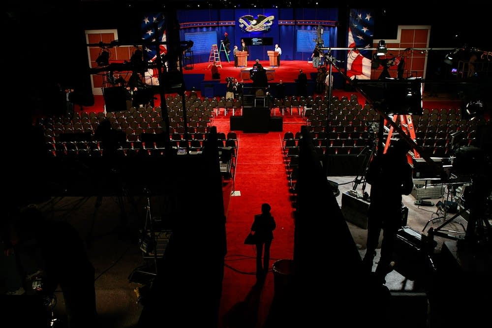 The stage of the 2008 Vice-Presidential debate