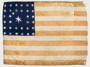 Civil War-era flag from Minnesota