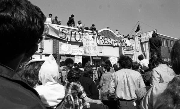 U students protested in 1970.