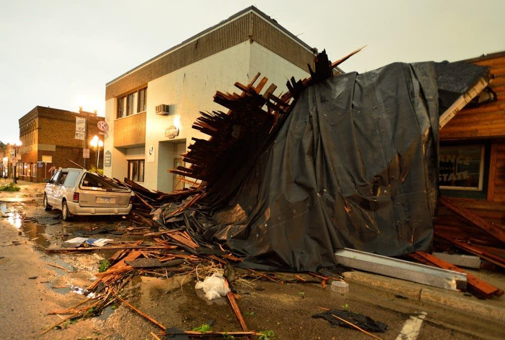 Storm damage in Ortonville