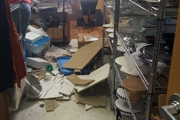 Burglars broke into Muddy Paws Cheesecake during the April blizzard.