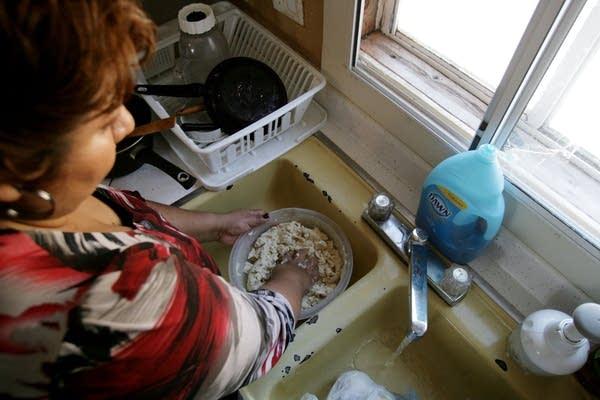Preparing corn meal