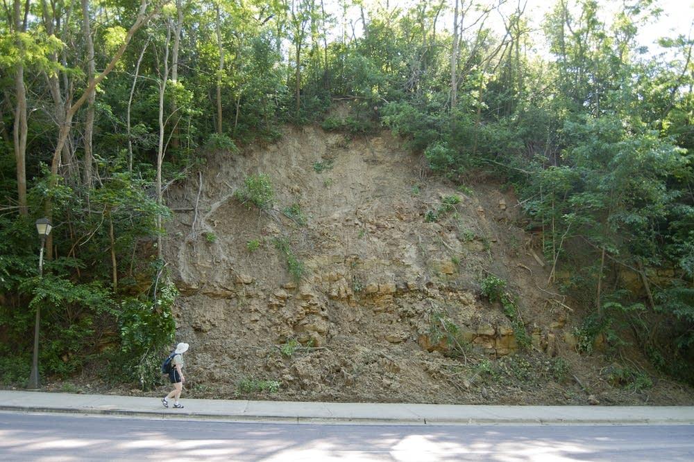 North Mankato landslide