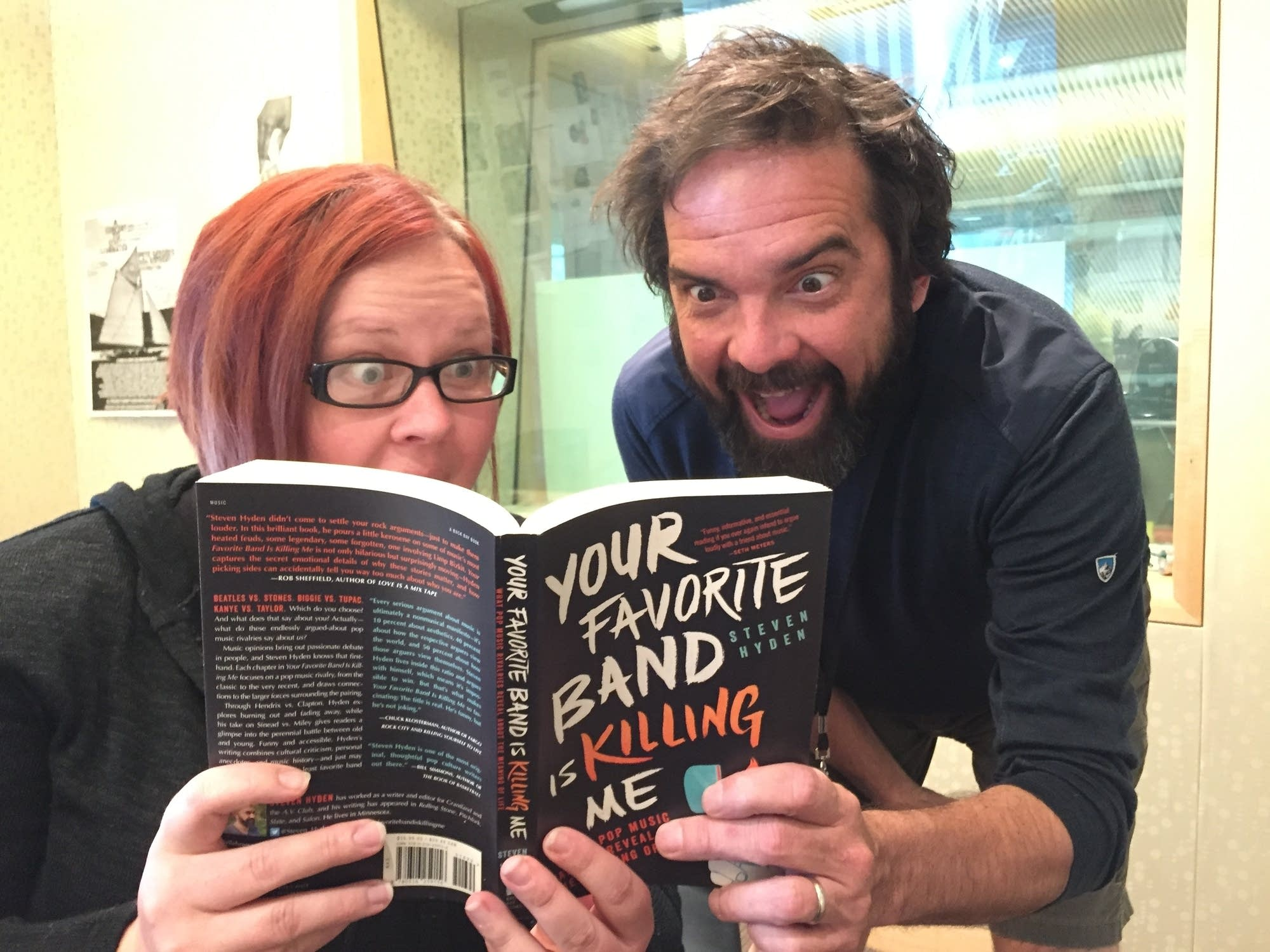 Jill Riley and Brian Oake read together