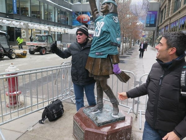 Jeff Pendergast, left, and Paul Tornetta, both of Philadelphia, pose