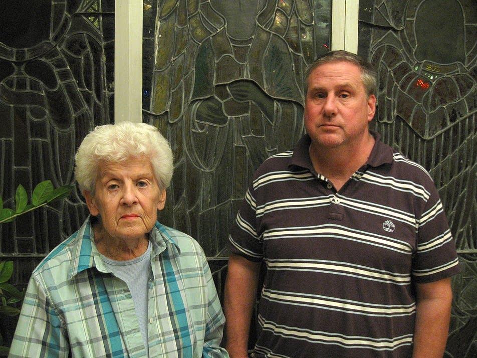 Jerie Greve, left, and her son Tom Greve