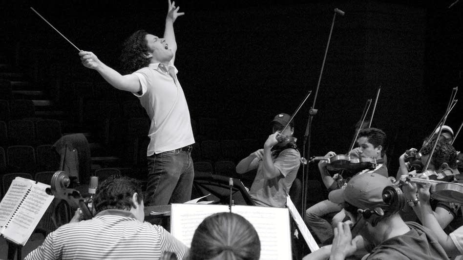 Gustavo Dudamel conducts