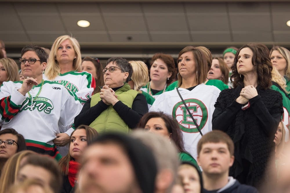 East Grand Forks fans looked nervous.