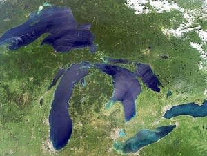 Satellite images of the Great Lakes