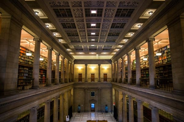 Inside the J.J. Hill Reference Library.