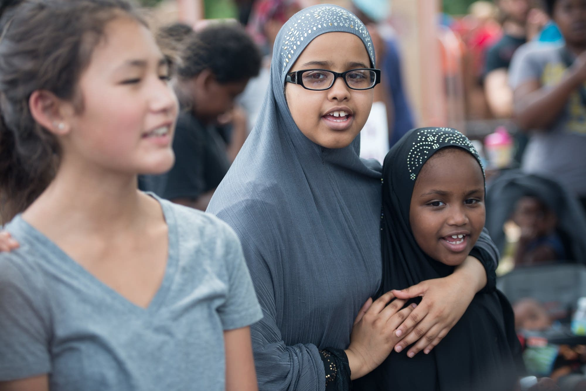 Fatumo Mohamed, 15, and her sister, Hanaan, 7