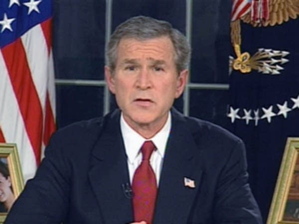 Bush announces start of Iraq war