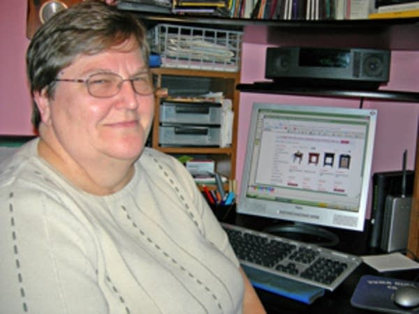 Online shopper Sue Peterson