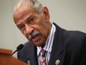 U.S. Rep. John Conyers (D-MI) speaks at a session.