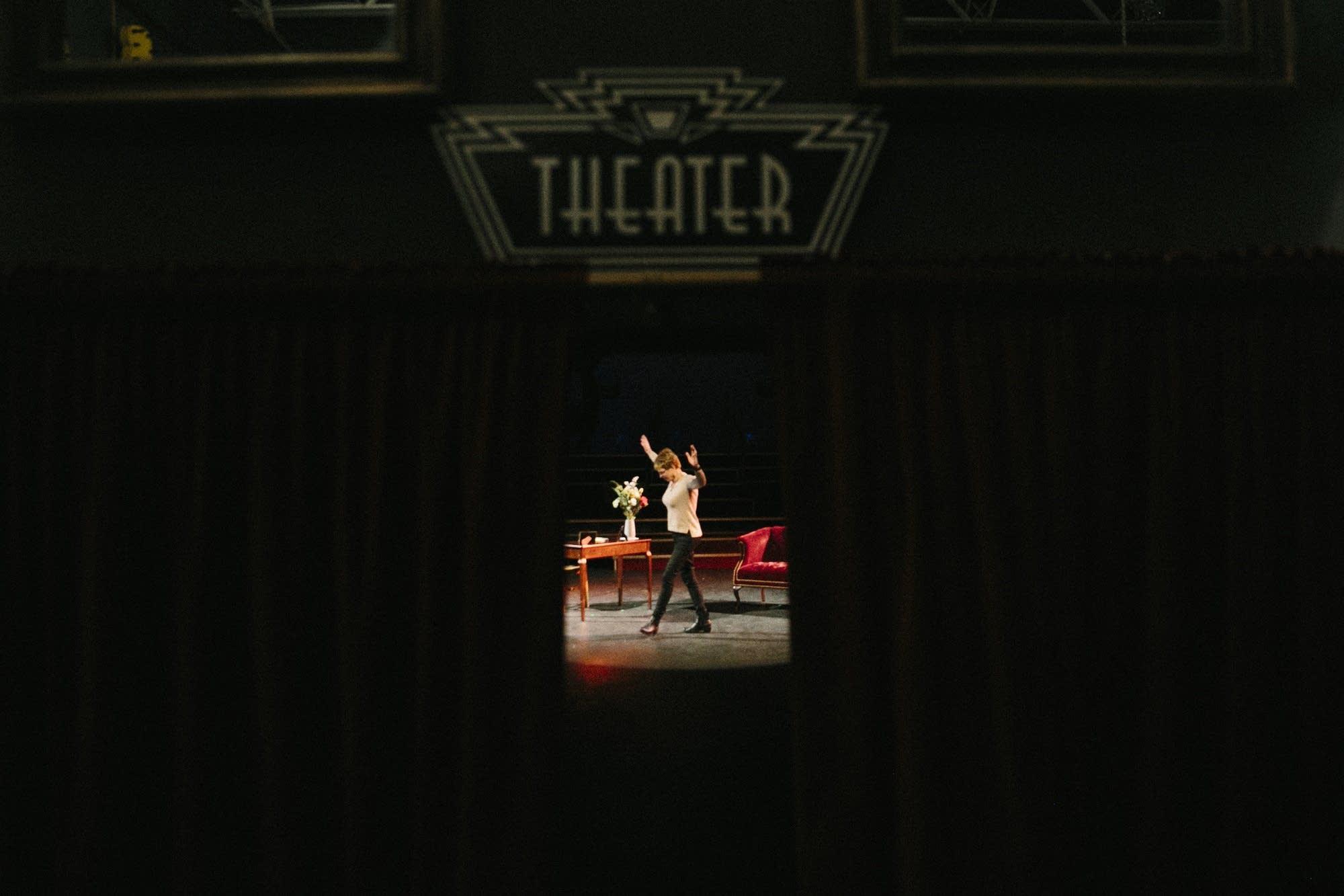 JamieAnn Meyers rehearses