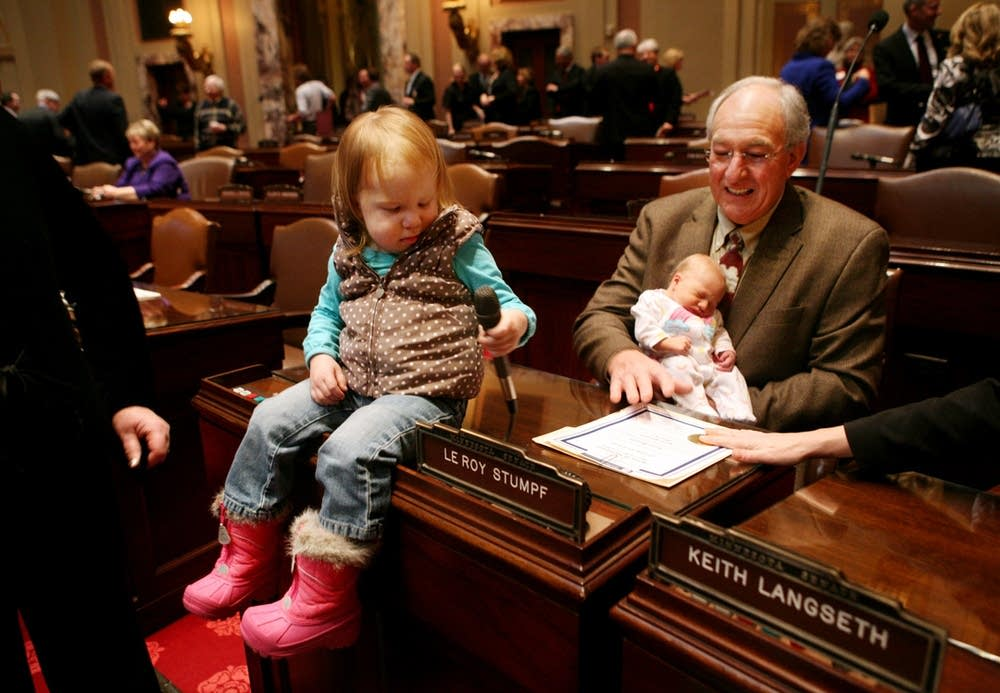 Sen. LeRoy Stumpf and granddaughters