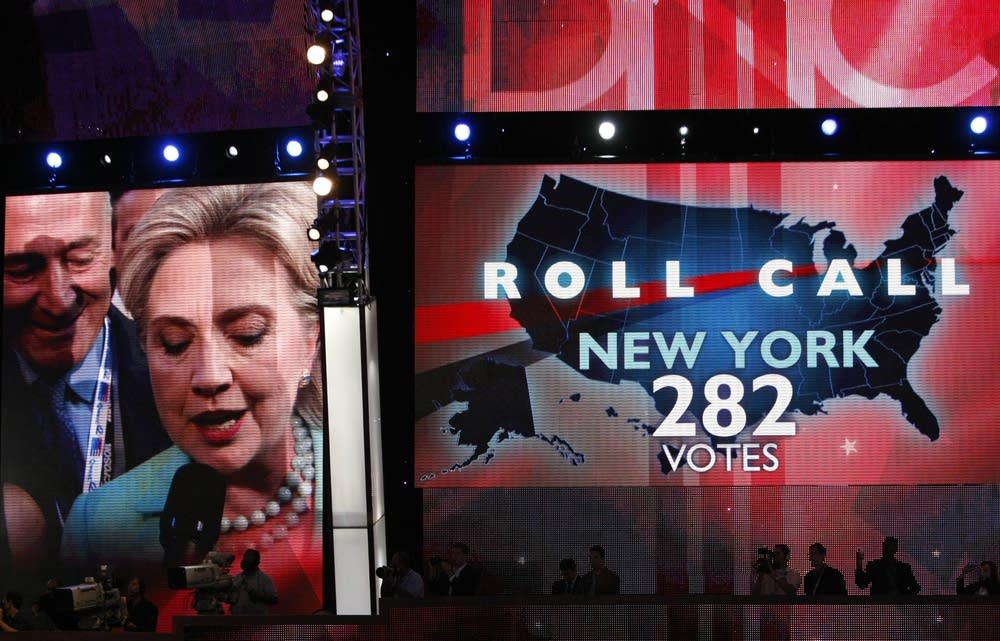 Hillary Clinton makes New York's roll call vote
