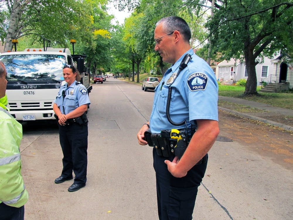 Officers Lisa Marks, Paul Gillies