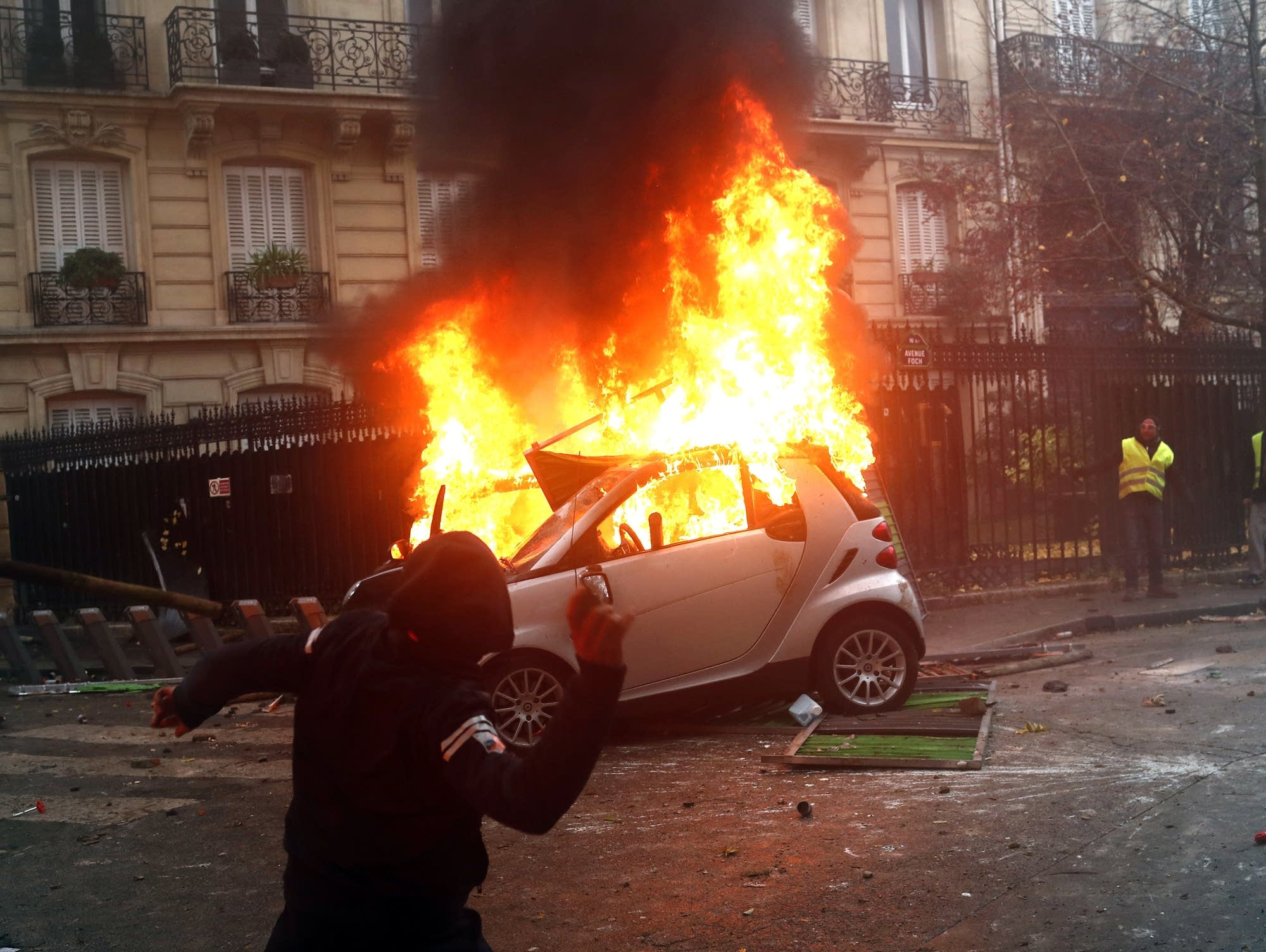 France's most violent urban riot in years engulfed parts of Paris Saturday