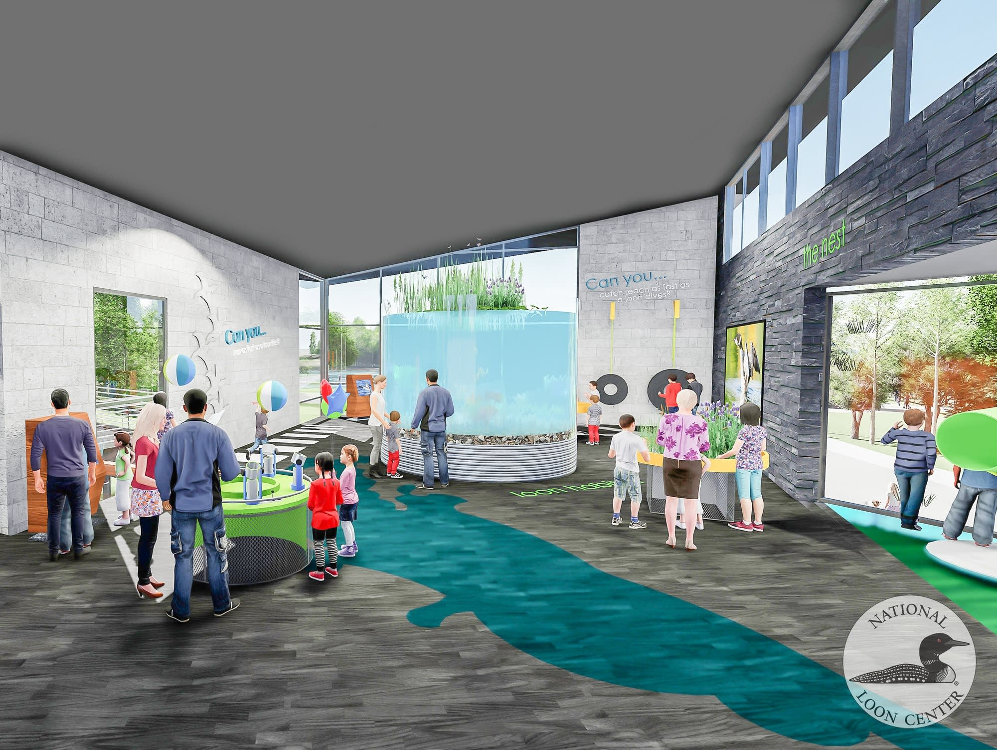 National Loon Center renderings.