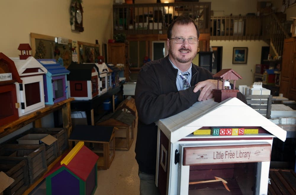 With The Very First Little Free Library, Company Founder Todd Bol Stood In  The Non Profitu0027s Hudson, Wis., Studio, March 24, 2015.  Free Bol
