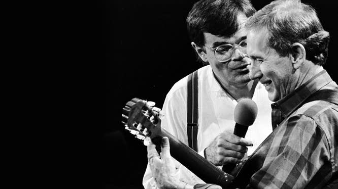 Garrison Keillor and Chet Atkins