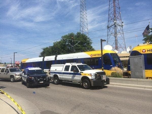 A pedestrian was fatally struck by a train