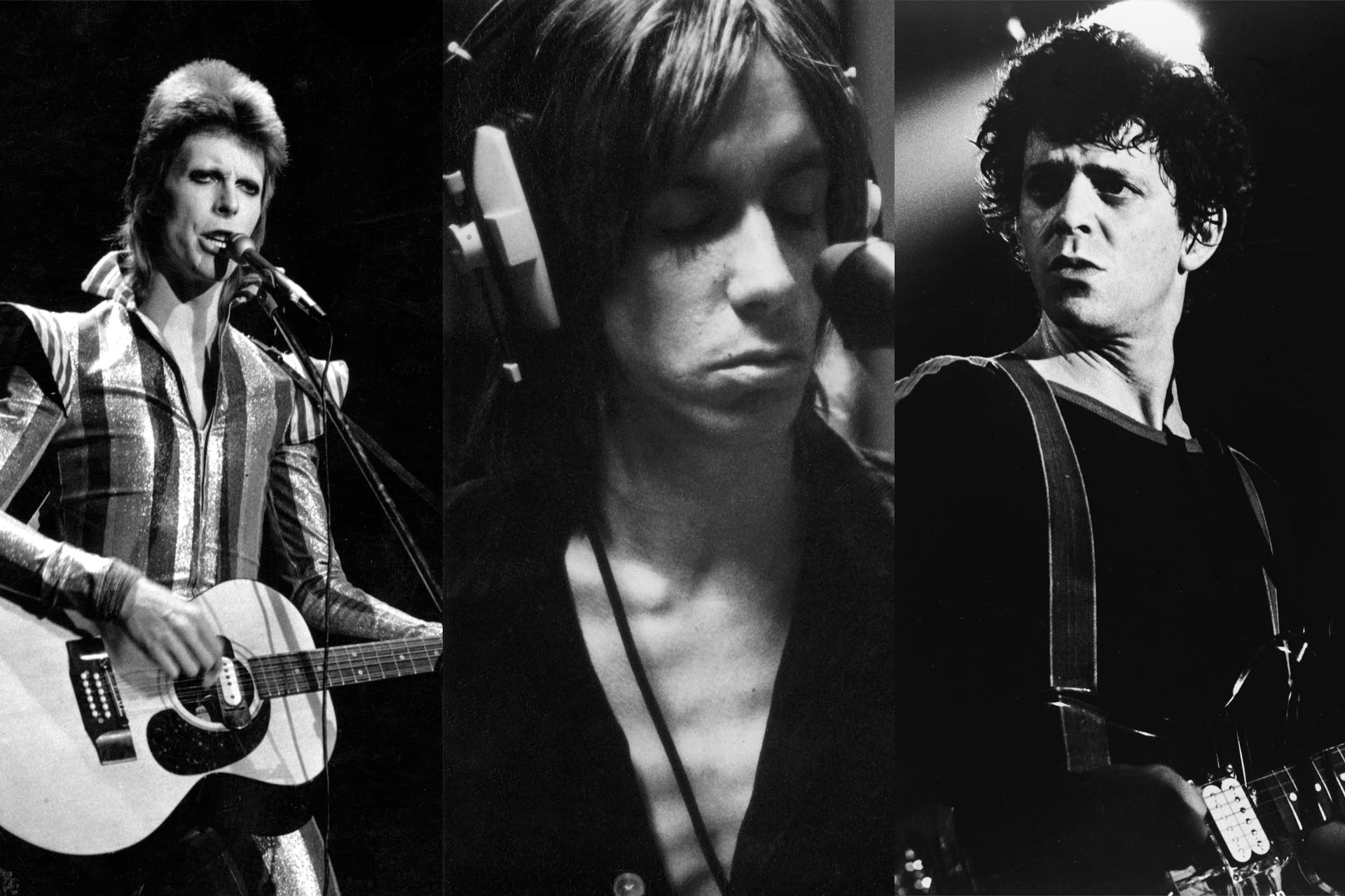 David Bowie, Iggy Pop and Lou Reed, early 1970s