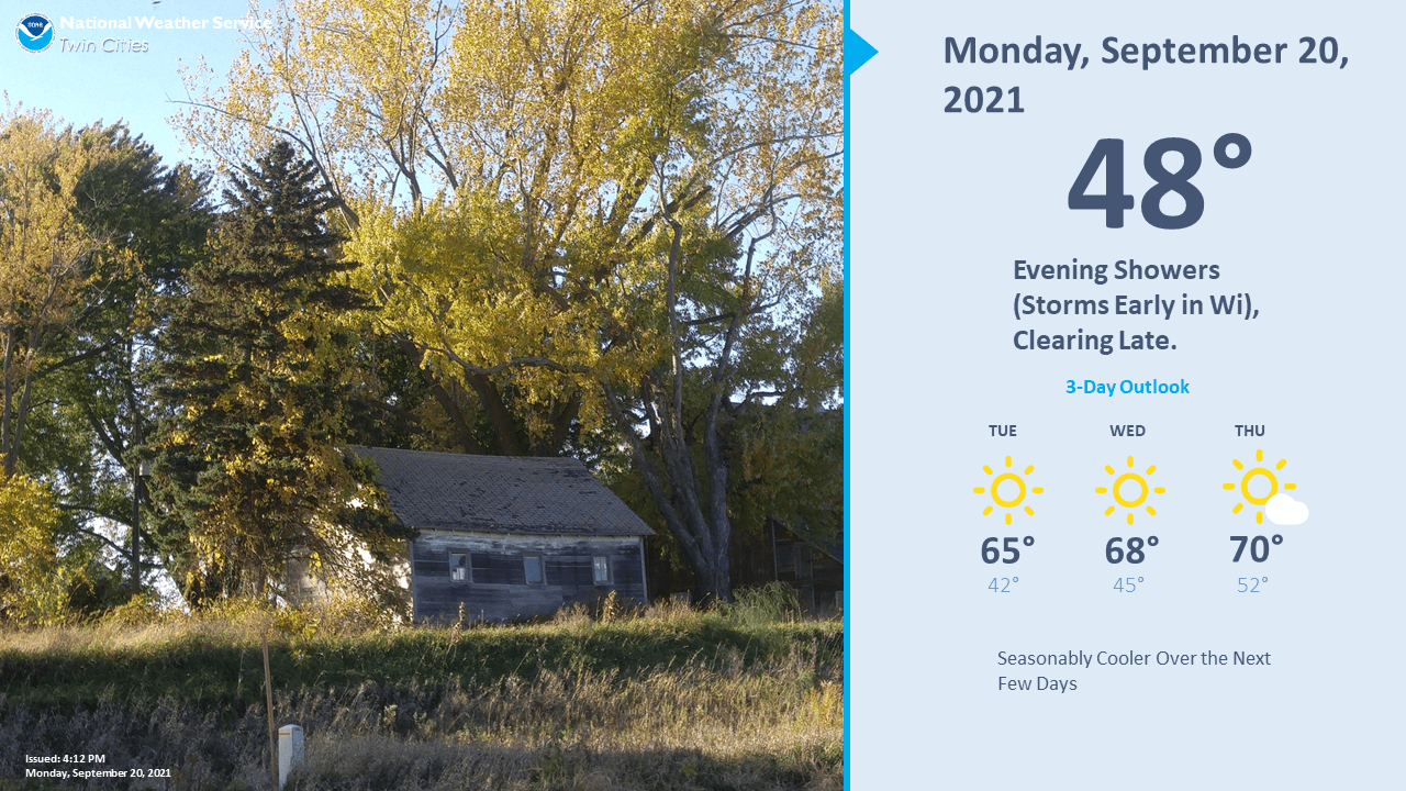 Twin Cities area forecast at a glance