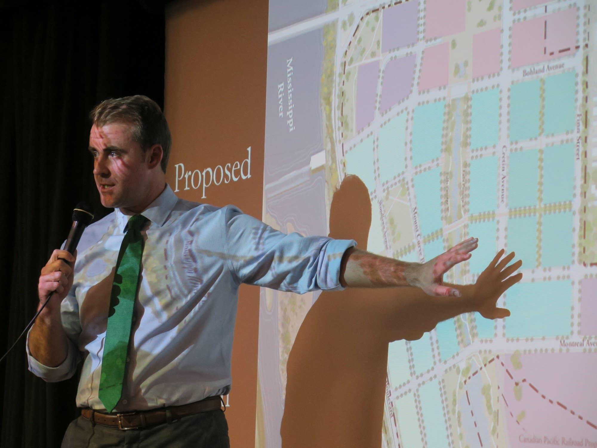 St. Paul Council Member Chris Tolbert discusses Ford site plan