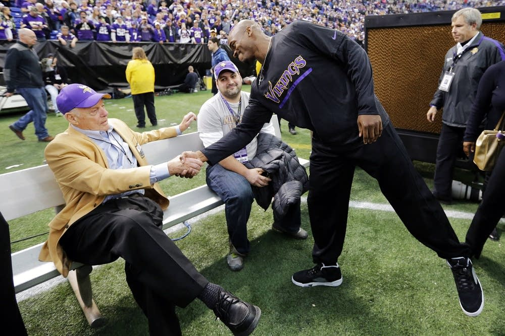Bud Grant, Adrian Peterson