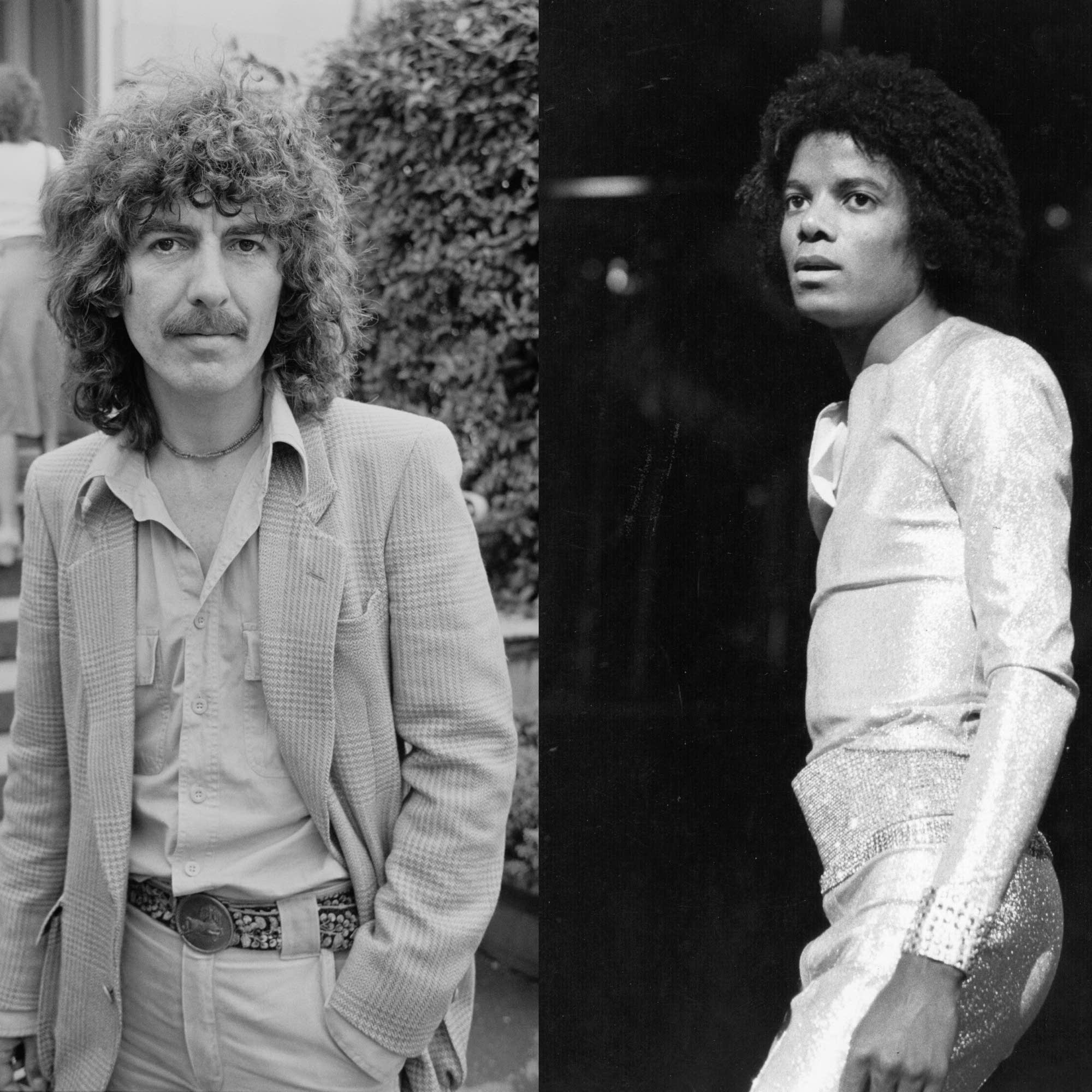 George Harrison in 1978; Michael Jackson in 1979.