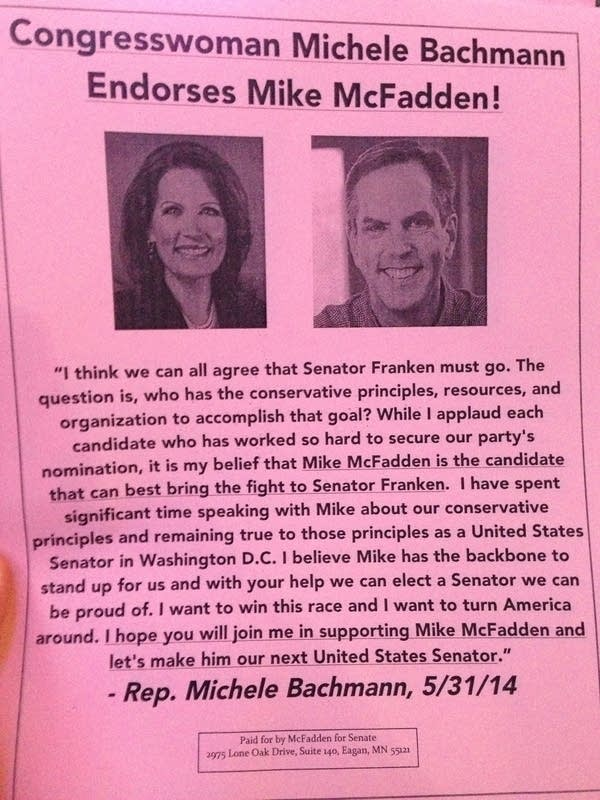 Bachmann endorsement
