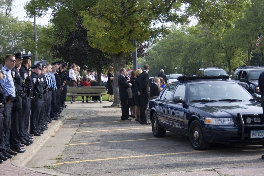 Officer Crittenden memorial service