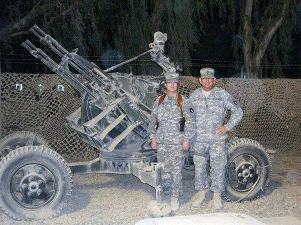 Baker served with her father, First Sgt. Norm Baker, in Iraq in 2008.